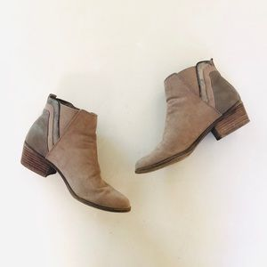 Madden Girl Tan Ankle Boots 7.5